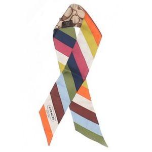 Coach Legacy Multicolor Silk Ribbon/Scarf
